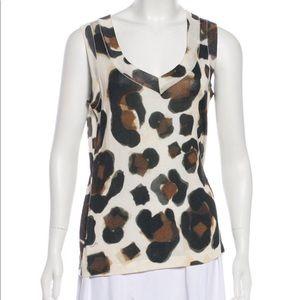 Versace Cheetah Tank Sleeveless Sweater Knit Top